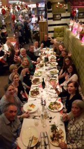 The foster carer Christmas meal in Brighton 2016
