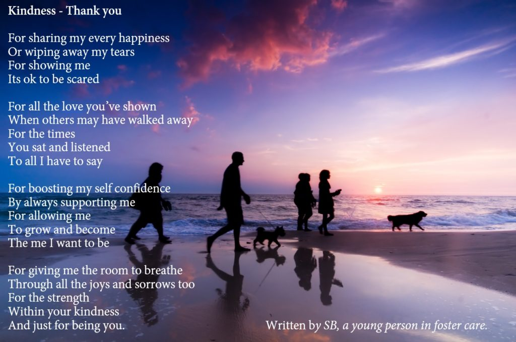 A poem written by a young person in foster care